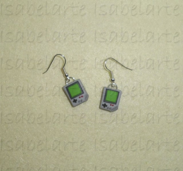 Game Boy-inspired earrings